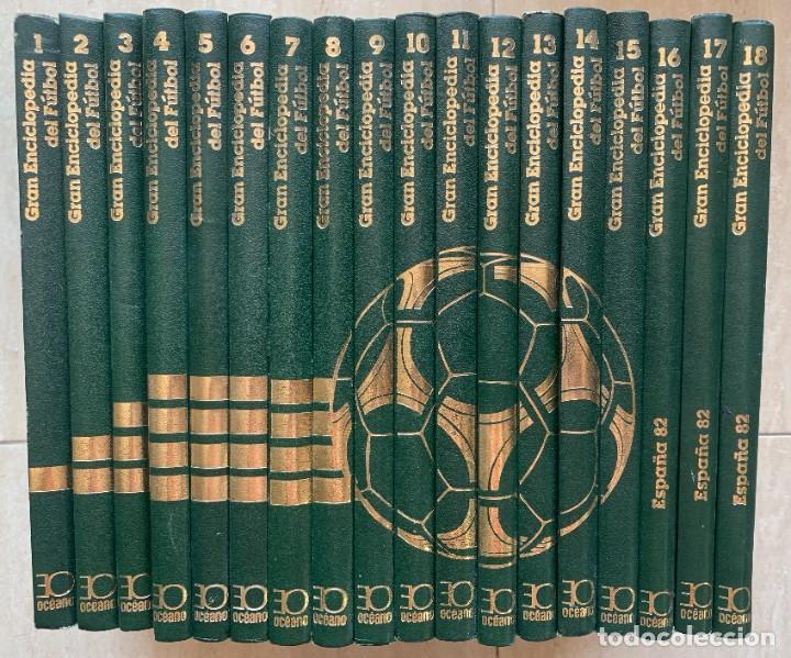 GRAN ENCICLOPEDIA DEL FUTBOL. VERSION ESPECIAL DE LA ENCICLOPEDIA MUNDIAL DEL FUTBOL. 18 TOMOS. 1982 (Libros de Segunda Mano - Enciclopedias)