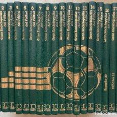 Enciclopedias de segunda mano: GRAN ENCICLOPEDIA DEL FUTBOL. VERSION ESPECIAL DE LA ENCICLOPEDIA MUNDIAL DEL FUTBOL. 18 TOMOS. 1982. Lote 267075709