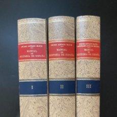 Enciclopedias de segunda mano: MANUAL DE HISTORIA DE ESPAÑA. PEDRO AGUADO BLEYE. ED. ESPASA-CALPE. 3 TOMOS. MADRID, 1975. Lote 267309629