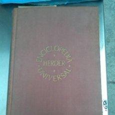 Enciclopedias de segunda mano: ENCICLOPEDIA UNIVERSAL HERDER. HERDER. 1964.. Lote 269177558