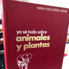 Enciclopedias de segunda mano: ILUSTRACIONES A MANO - YO SE TODO SOBRE ANIMALES Y PLANTAS ARGOS. Lote 269654473
