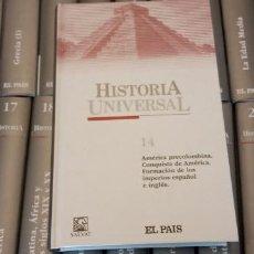 Enciclopedias de segunda mano: ENCICLOPEDIA HISTORIA UNIVERSAL. EDITORIAL SALVAT. EL PAIS. 25 TOMOS.. Lote 270688188
