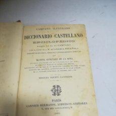 Enciclopedias de segunda mano: DICCIONARIO CASTELLANO ENCICLOPÉDICO. CAMPANO ILUSTRADO. GONZÁLEZ DE LA ROSA. 1894. GARNIER HNOS. Lote 272865998