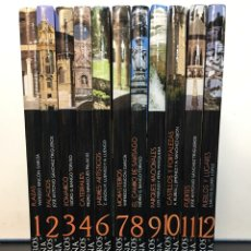 Livros em segunda mão: LOTE 11 LIBROS COLECCIÓN TESOROS DE ESPAÑA, TAPA DURA, FALTA TOMO 5, VER FOTOS. BUEN ESTADO. Lote 275113543