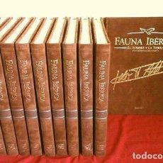 Enciclopedias de segunda mano: EDICION COMPLETA NUMERADA - FELIX RODRIGUEZ DE LA FUENTE - FAUNA IBERICA (1992) TERCIOPELO. Lote 276141273