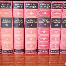 Livres d'occasion: OBRAS COMPLETAS, GREGORIO MARAÑÓN - 10 TOMOS. Lote 276801748