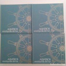Enciclopedias de segunda mano: ALBATROS. ENCICLOPEDIA DEL MAR. 4 TOMOS EN MUY BUEN ESTADO. 1977. Lote 277580858