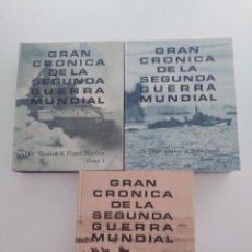 Enciclopedias de segunda mano: GRAN CRÓNICA DE LA SEGUNDA GUERRA MUNDIAL . READER´S DIGEST. 3 TOMOS .1965.. Lote 277581908