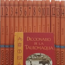 Libri di seconda mano: ENCICLOPEDIA EL COSSÍO - 14 TOMOS + DICCIONARIO DE LA TAUROMAQUIA - ESPASA. Lote 285424998