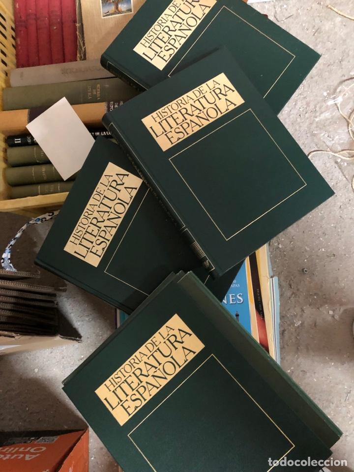 HISTORIA DE LA LITERATURA ESPAÑOLA - CUATRO TOMOS 1982 - ORBIS (Libros de Segunda Mano - Enciclopedias)