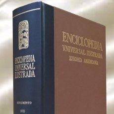 Enciclopedias de segunda mano: ENCICLOPEDIA UNIVERSAL ILUSTRADA EUROPEO AMERICANA ESPASA CALPE SUPLEMENTO 1935. Lote 289344683