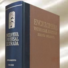 Enciclopedias de segunda mano: ENCICLOPEDIA UNIVERSAL ILUSTRADA EUROPEO AMERICANA ESPASA CALPE SUPLEMENTO 1936-1939 2 PARTE. Lote 289345033