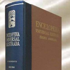 Enciclopedias de segunda mano: ENCICLOPEDIA UNIVERSAL ILUSTRADA EUROPEO AMERICANA ESPASA CALPE SUPLEMENTO 1942-1944. Lote 289345388