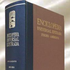 Enciclopedias de segunda mano: ENCICLOPEDIA UNIVERSAL ILUSTRADA EUROPEO AMERICANA ESPASA CALPE SUPLEMENTO 1953-1954. Lote 289345763