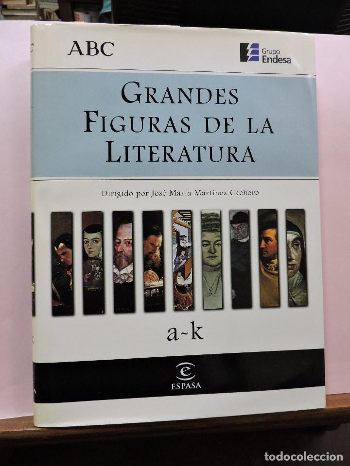 GRANDES FIGURAS DE LA LITERATURA A-K. ESPASA ABC (Libros de Segunda Mano - Enciclopedias)