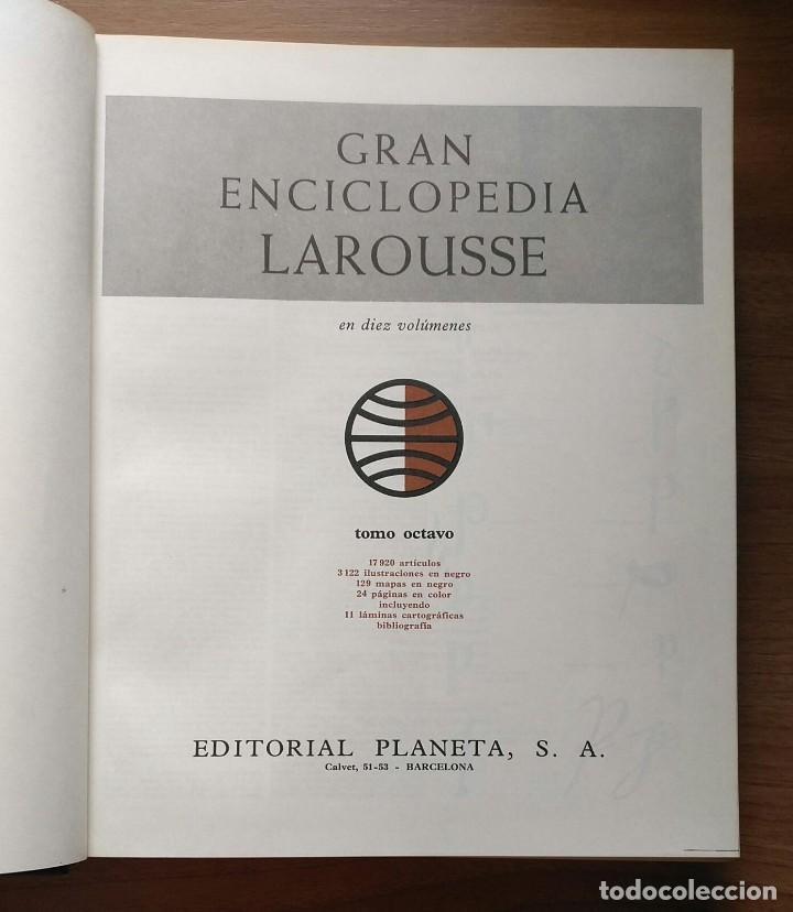 Enciclopedias de segunda mano: Gran enciclopedia LAROUSSE - 10 volúmenes + suplemento - Foto 7 - 289740098