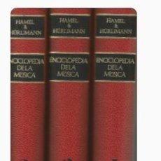 Enciclopedias de segunda mano: ENCICLOPEDIA DE LA MÚSICA TRES VOLUMS-FRED HAMEL. Lote 296693613