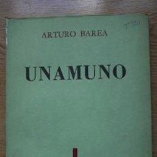 Libros de segunda mano: UNAMUNO. BAREA (ARTURO). Lote 16954751