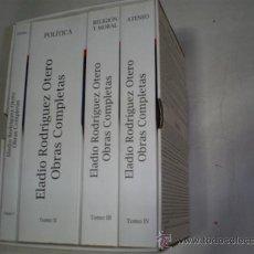 Libros de segunda mano: ELADIO RODRÍGUEZ OTERO OBRAS COMPLETAS. CUATRO TOMOS RM50264. Lote 27225637