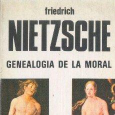 Libros de segunda mano: GENEALOGÍA DE LA MORAL FRIEDRICH NIETZSCHE POESIA Y PROSA POPULAREDICIONES BUSMA 1985. Lote 26700237