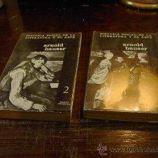 Libros de segunda mano: ARNOLD HAUSER,, HISTORIA SOCIAL DE LA LITERATURA Y EL ARTE, ED. GUARRAMA, 2 TOMOS, 1964. Lote 29839244