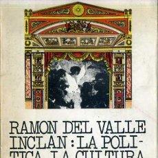 Libros de segunda mano: J. A. HORMIGON : RAMON DEL VALLE INCLAN -LA POLÍTICA, LA CULTURA, EL REALISMO Y EL PUEBLO. Lote 30985326