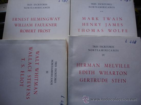 TRES ESCRITORES NORTEAMERICANOS.8 PRIMEROS VOLUMENES.1961.GREDOS (Libros de Segunda Mano (posteriores a 1936) - Literatura - Ensayo)