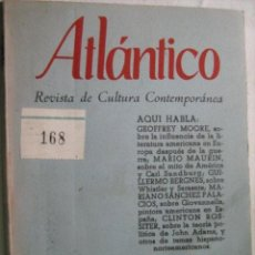 Libros de segunda mano: ATLÁNTICO Nº 10. REVISTA DE CULTURA CONTEMPORÁNEA. 1958. Lote 31235521
