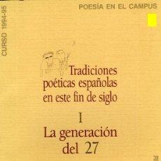 Libros de segunda mano: LA GENERACIÓN DEL 27J.C. MAINER-BRINES-GARCÍA MONTERO-J. SILES-L.A. VILLENA-BENÍTEZ REYES-M. VILAS.. Lote 31307537