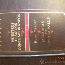 Libros de segunda mano: MEMORIAS DE LETICIA VALLE . ROSA CHACEL .PLANETA. Lote 33385386