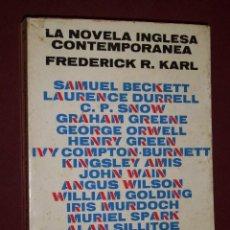 Libros de segunda mano: LA NOVELA INGLESA CONTEMPORÁNEA POR FREDERICK R. KARL DE ED. LUMEN EN BARCELONA 1968. Lote 33791057