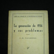 Libros de segunda mano: FOLLETO. LA GENERACIÓN DE 1936 Y SUS PROBLEMAS. J.-E. CASARIEGO. MADRID,1953. . Lote 33984310