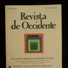 Libros de segunda mano: REVISTA DE OCCIDENTE. N 365 OCT.2011 155 PAG. Lote 34410611