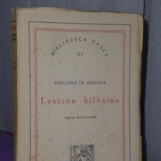Libros de segunda mano: LEXICON BILBAINO. . Lote 35578210