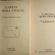 Libros de segunda mano: CARTAS A ROSA CHACEL. ANA RODRIGUEZ-FISCHER. . Lote 37726177