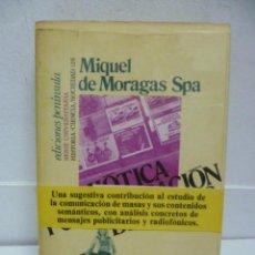 Libros de segunda mano: SEMIÓTICA Y COMUNICACIÓN DE MASAS - MIQUEL DE MORAGAS SPA (1976). Lote 39773250