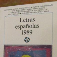 Libros de segunda mano: LETRAS ESPAÑOLAS 1989 DE VARIOS AUTORES (CASTALIA). Lote 39811868