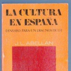 Libros de segunda mano: LA CULTURA EN ESPAÑA. ( ENSAYO PARA UN DIAGNÓSTICO). EDIT. CUADERNOS PARA EL DIALOGO. MADRID. 1971.. Lote 39872365