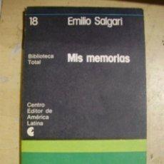 Libros de segunda mano - Salgari: MIS MEMORIAS (Buenos Aires, 1977) - 39958189