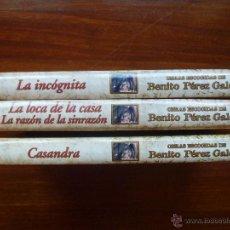 Libros de segunda mano: PEREZ GALDOS 3 LIBROS DE EDICIONES RUEDA. Lote 40419321