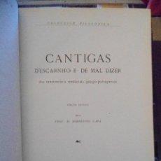 Libros de segunda mano: M. RODRIGUES LAPA. CANTIGAS D´ESCARNHO E DE MAL DIZER. 1965. Lote 41024016