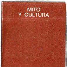Libros de segunda mano: MITO Y CULTURA. JOSÉ LUIS ABELLÁN. SEMINARIOS Y EDICIONES, S. A. MADRID. 1971.. Lote 42258123