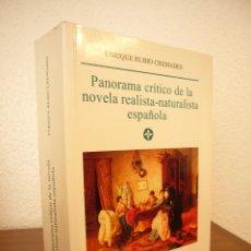 Libros de segunda mano: E. RUBIO CREMADES: PANORAMA CRÍTICO DE LA NOVELA REALISTA-NATURALISTA ESPAÑOLA (CASTALIA, 2001). Lote 42431374