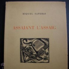 Libros de segunda mano: ASSAJANT L´ASSAIG.1949.. Lote 42467162