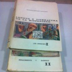 Libros de segunda mano: LENGUA Y LITERATURA DE LA HUMANIDAD TOMOS I, II Y III - LOS ORIGENES, RENACIMIENTO Y BARROCO, ILUS... Lote 43494022