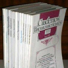 Libros de segunda mano: LOTE DE 12 CUADERNOS HISPANOAMERICANOS DE MADRID, CORRESPONDIENTES AL AÑO 1995 COMPLETO. Lote 43928731