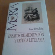 Libros de segunda mano: ENSAYOS DE MEDITACIÓN Y CRÍTICA LITERARIA. SEBOLD. MORIA. UNIVERSIDAD DE SALAMANCA. 2004. Lote 44210696