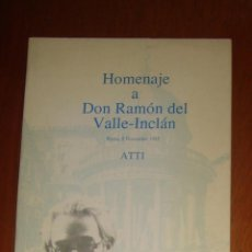 Libros de segunda mano: HOMENAJE A DON RAMÓN DEL VALLE-INCLÁN. VARIOS AUTORES. UNIVERSITÁ DEGLI STUDI DI PERUGIA/ UNED. 1985. Lote 44362181
