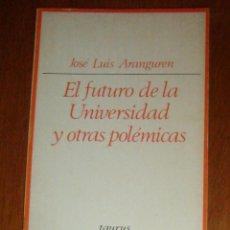 Libros de segunda mano: EL FUTURO DE LA UNIVERSIDAD Y OTRAS POLÉMICAS, DE JOSÉ LUIS ARANGUREN. TAURUS, 1973. Lote 45080909