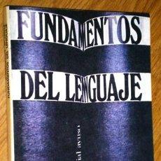 Libros de segunda mano: FUNDAMENTOS DEL LENGUAJE POR ROMAN JAKOBSON Y MORRIS HALLE DE ED. AYUSO EN MADRID 1974. Lote 224926256